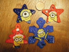 handpainted minion christmas decorations holidays pinterest