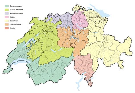 Grossregionen Der Schweiz Wikipedia