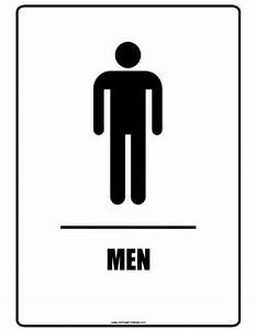 restroom signs printable clipart best With men and women bathroom symbols