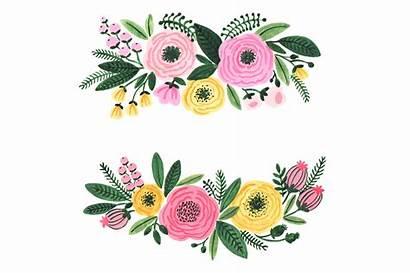 Watercolor Flowers Clipart Garden Clip Flower Floral