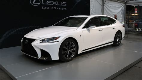 white lexus 2018 2018 lexus ls 500 f sport is a more aggressive luxury sedan