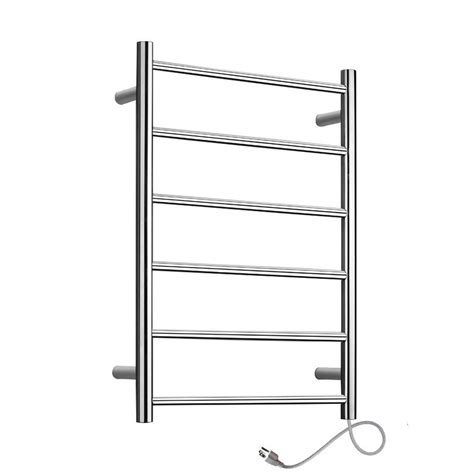 cheap towel warmer warmlyyours studio 6 bar electric towel warmer in polished 2121
