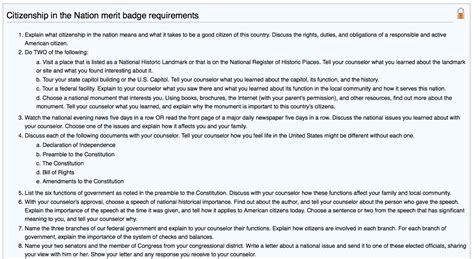 citizenship in the nation mo merit badges
