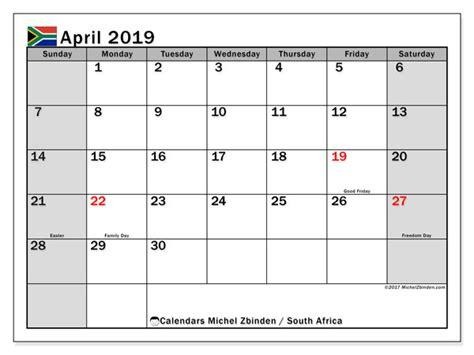 april  calendar south africa michel zbinden en