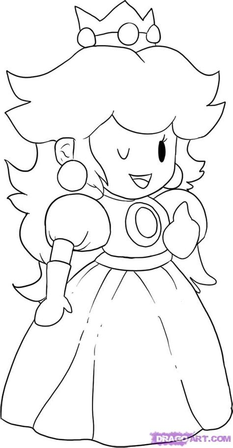 paper peach coloring pages   print