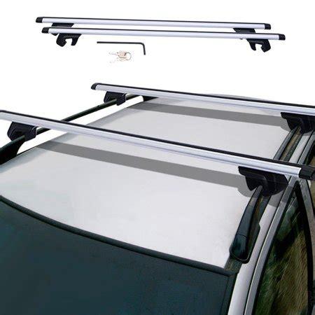 walmart roof rack universal car wagon aluminum cross bars roof top rail rack