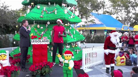 legoland christmas legoland florida bricktacular tree lighting