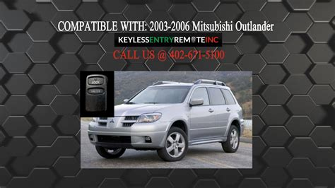 How Replace Mitsubishi Outlander Key Fob Battery