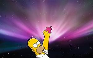 Homer Simpsons & Apple – HD Wallpaper