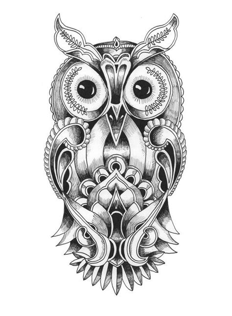 coloriage mandala hibou sketches coloring pages tattoos