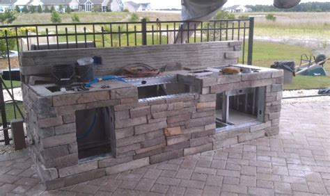 how to build an outdoor kitchen with metal studs my parents outdoor kitchen build kitchens baths