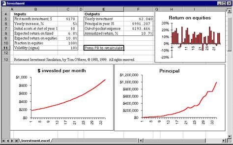 investment template the investment simulation spreadsheet