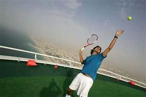 Andre Agassi And Roger Federer Do Helipad Publicity Shoot ...