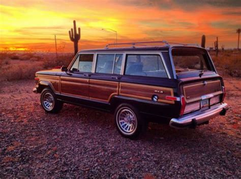 jeep wagoneer 1990 purchase used 1990 jeep grand wagoneer baltic blue light