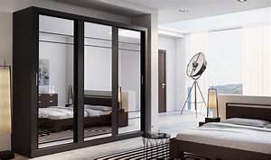 Porte Coulissante Miroir : armoire dressing 3 portes miroirs coulissantes lux ~ Carolinahurricanesstore.com Idées de Décoration