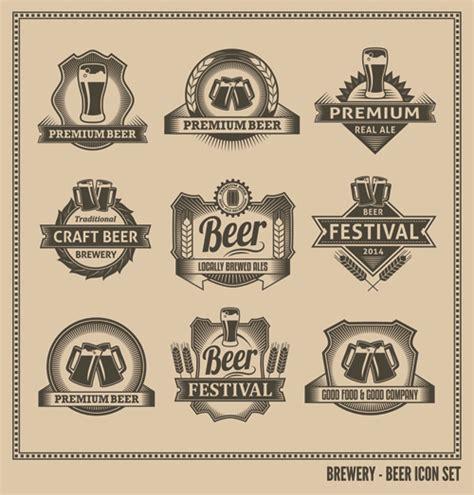 beer bottleneck label powerpoint template 20 vintage label vector download free fonts images free