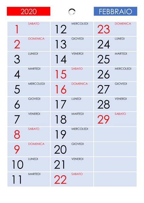 vuoto calendario febbraio  da stampare  nosuvia