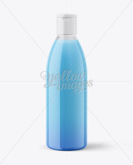 Plastic pure water bottle mockup template. Clear Plastic Bottle With Liquid Mockup in Bottle Mockups ...