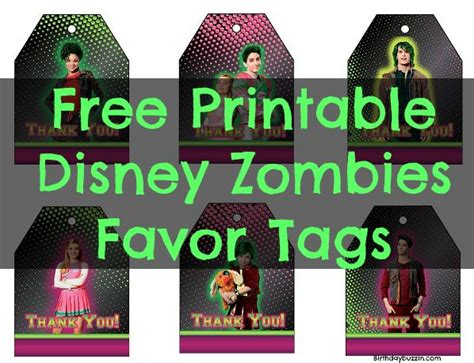 disney zombies birthday party printables archives