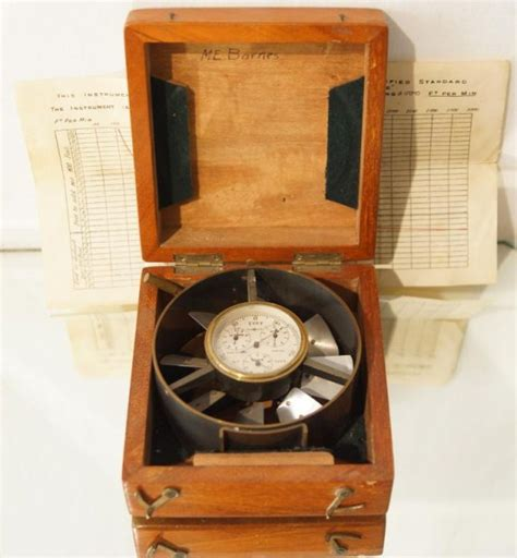 antique l supply antique anemometer depth marked n w school supply
