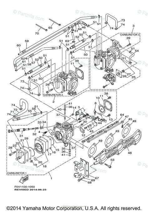 yamaha waverunner 2001 oem parts diagram for carburetor partzilla com