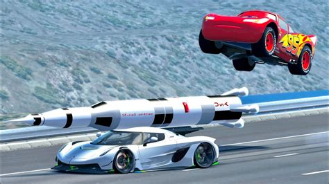 How can it be the other bugatti won the one that looks like the bugatti divo. Koenigsegg Jesko with Saturn V Rocket Engine vs Lightning McQueen - Drag Race 20 KM - YouTube