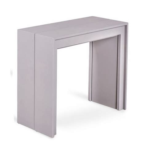 Table Console Extensible Grise Console Transformable