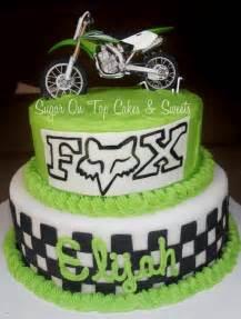 Fox Dirt Bike Birthday Cake