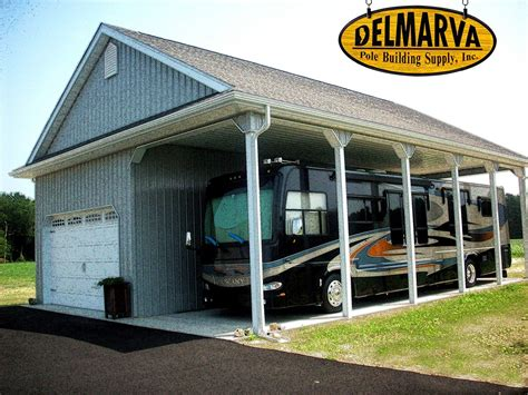 Port Side Garage by 34x45x14 Car Garage And Rv Port Pole Building