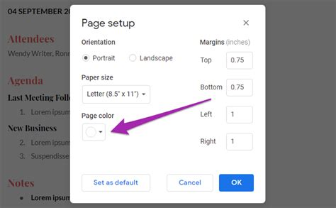How to Change Background Color in Google Docs