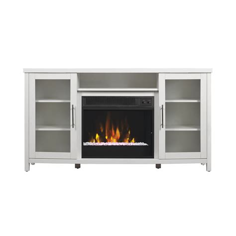 white fireplace tv stand shop classicflame rossville white fireplace tv stand at