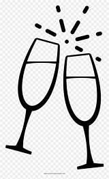 Flute Champagne Glasses Coloring Clip Vhv sketch template