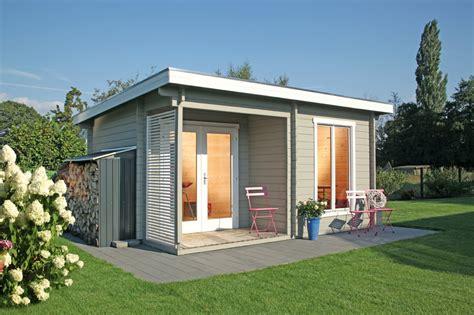 Kleines Holzhaus Bausatz by Gartenhaus Flachdach 171 450x330cm Holzhaus Bausatz 44mm