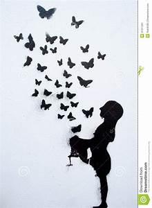 3d Schmetterlinge Wand : schmetterlinge gemalt auf einer wand stock abbildung bild 41311291 ~ Whattoseeinmadrid.com Haus und Dekorationen