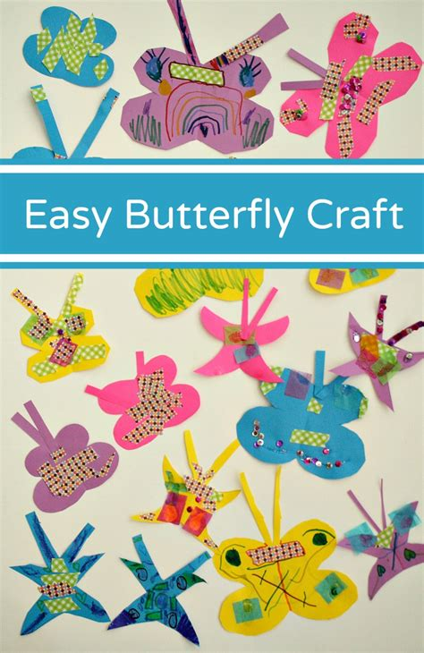 easy paper butterfly craft fantastic amp learning 228 | Easy Butterfly Craft for Toddlers and Preschoolers
