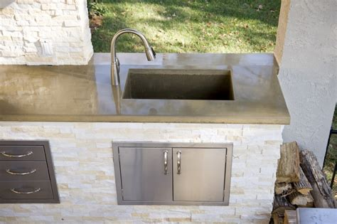 outdoor kitchen with sink how to clear outdoor kitchen sink 3875