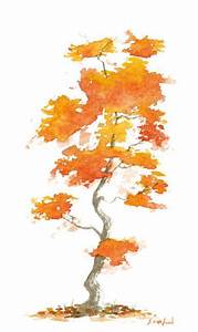 Fall tree watercolor - lovely | Just nice to look at ...