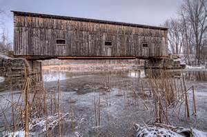 East Shoreham Railroad Covered Bridge Vermont