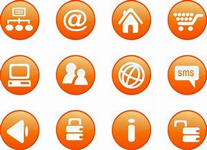 Clipart - icons orange web candy