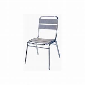 Chaise De Jardin Aluminium : chaise bistrot alu trigano collectivit s ~ Teatrodelosmanantiales.com Idées de Décoration