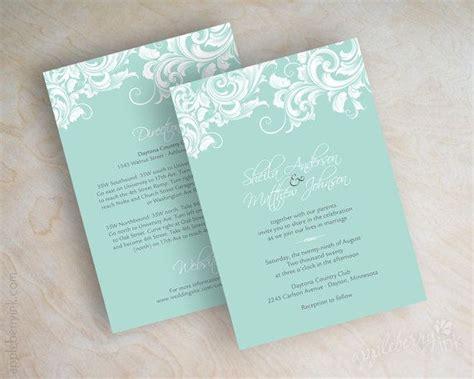 25+ Best Ideas About Mint Wedding Invitations On Pinterest