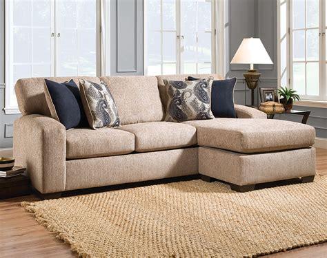 Tan Sofa, Printed Pillows  Uptown Almond 2 Pc Sectional
