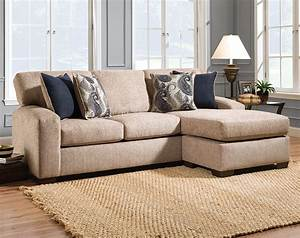 Tan sofa printed pillows uptown almond 2 pc sectional for Uptown red 2 pc sectional sofa