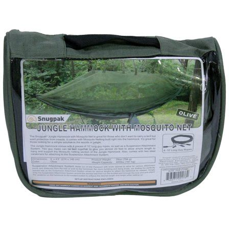 Proforce Jungle Hammock by Proforce Equipment Jungle Hammock With Mosquito Net Olive