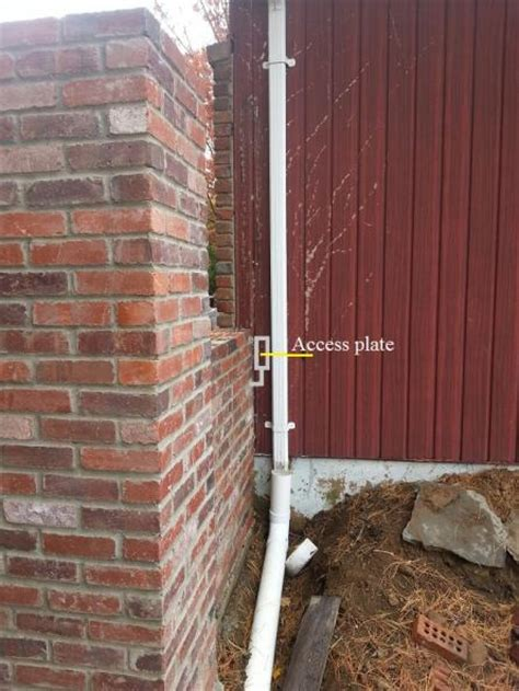 outdoor wiring through brick walls and piers doityourself community