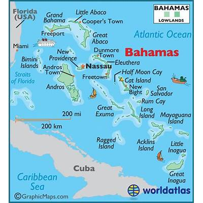 Map of Bahamas Commonwealth The Maps - Mapsof.net