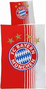 Fc Bayern Bettwäsche : fc bayern m nchen bettw sche rot wei ~ Watch28wear.com Haus und Dekorationen