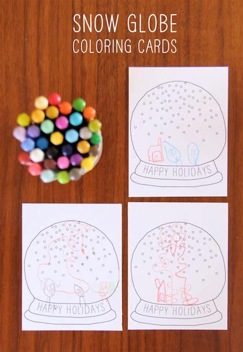 diy printable snow globe card handmade charlotte