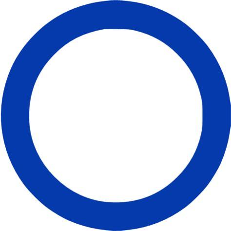 royal azure blue circle outline icon  royal azure