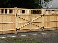 wood fence gates How To Make A Privacy Fence Double Gate - WoodWorking Projects & Plans